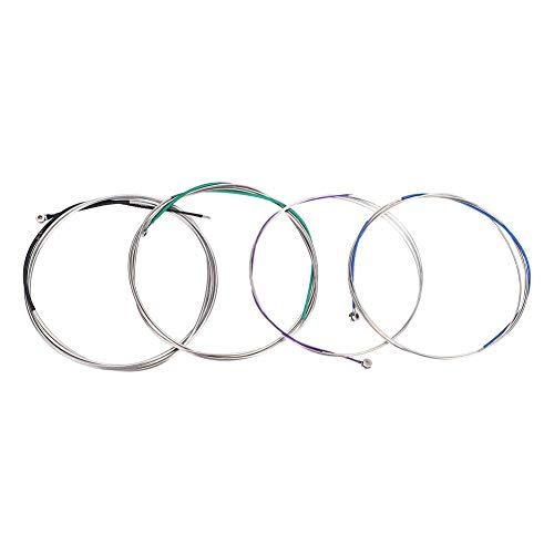 Cello Strings A-D-G-C Cello Steel Wire String for Full Size 4/4-3/4 Cello Replacement with Colorful Coatings