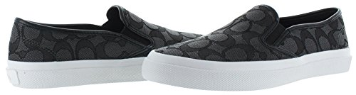 Coach Chrissy Womens Signature Slip Op Sneakers Schoenen Black Smoke