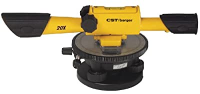 CST/berger 54-190B 20X Speed Line Transit Level Package with Cross Hairs and Carrying Case