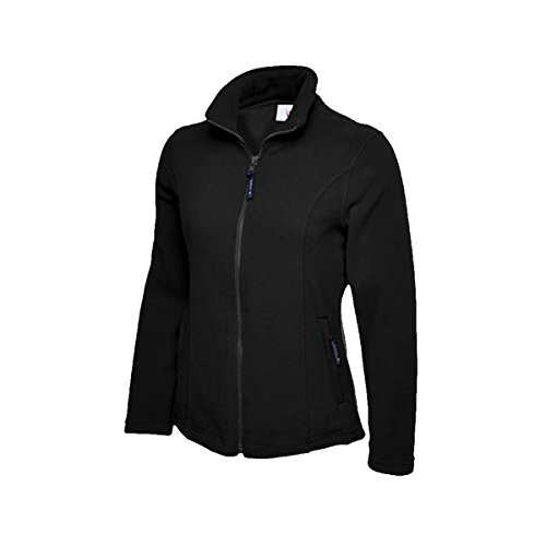 Manteau de marche impermable Uneek UC607 en polaire, pour femme Noir