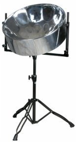 Wetzel Single Lead/Tenor Steel Drum Stand - Tripod Base (Black)