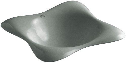 KOHLER K-2815-P5-FT Dolce Vita Vessels Bathroom Sink with Black Iron Underside, Basalt