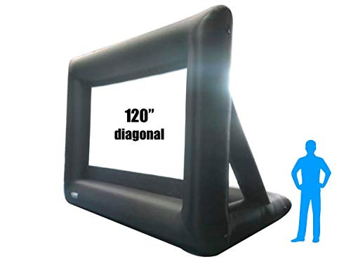 16Ft Inflatable Front and Rear Projection Portable Movie Screen Blow up Outdoor IWS120 Diagonal Total (View Area 120