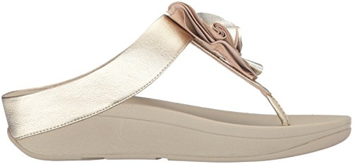 Fitflop Donna Florrie Toe-thong Sandalo Oro Pallido