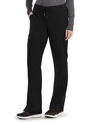 Grey's Anatomy Women's 4277 6 Pocket Straight Leg Cargo Scrub Pant,Black, Small