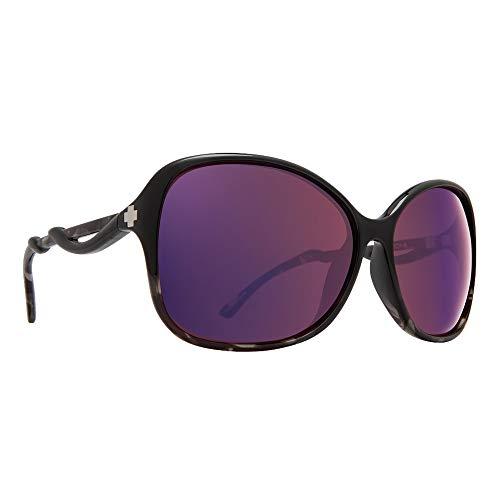 SPY Optic Fiona Women's Sunglasses (Black/Smoke Tort – Happy Rose w/Midnight Spectra Mirror)