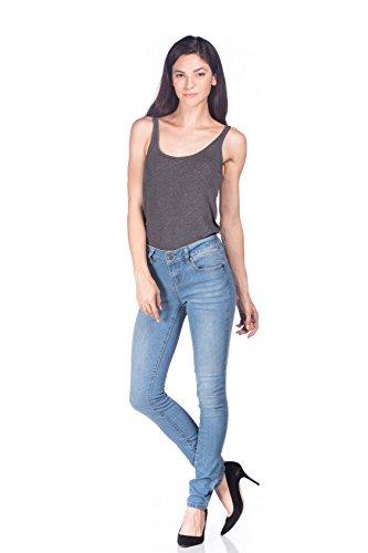 light blue colored jeans - 3