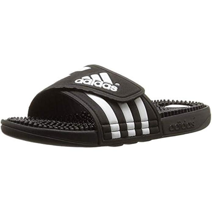 adidas Men's Adissage Sandal Run White/Graphite/Run White