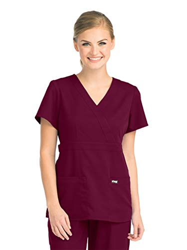 Grey's Anatomy Womens Scrubs, Wine, Small