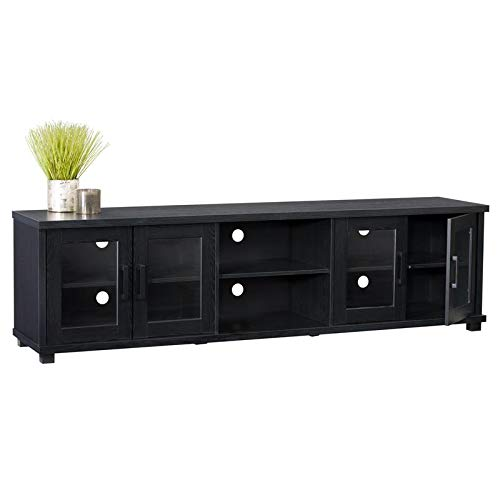 CorLiving Fremont Black Ravenwood TV Bench for TVs up to 90