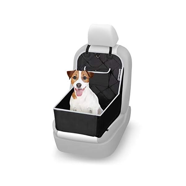 31%2BhiZWYFVL BESTPAWS Hunde Autositz für kleine & mittlere Hunde - Autositz Hund für Rückbank & Beifahrersitz - Hundebox faltbar…