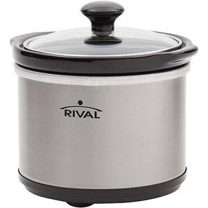 Rival 65-Quart Mini Slow Cooker, Stainless Steel