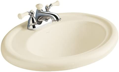 American Standard 0293.008.222 Standard Collection Countertop Sink with 8-Inch Faucet Spacing, Linen