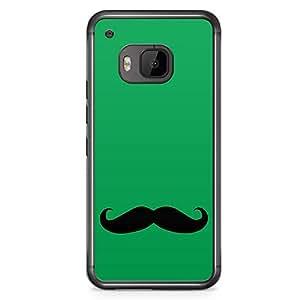 Loud Universe Super Mario Mustache HTC M9 Case Green HTC M9 Cover with Transparent Edges