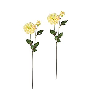 "Sullivans Set of 2 Artificial Yellow Dahlia Flower Stems, 19.5"" 29"