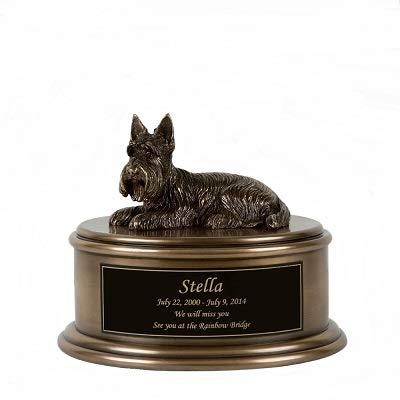 - Perfect Memorials Custom Engraved Scottish Terrier Figurine Cremation Urn