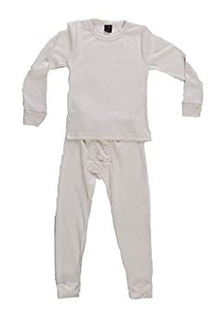 95362-Ecru-10/12 At The Buzzer Thermal Underwear Set for Boys