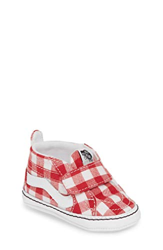 "Vans ""Off The Wall Infant Crib Sk8-Hi White/Red VN0A346PVDY (4 M US Toddler)"