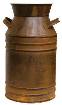 Large Old Fashioned Rusty Milk Can Black Distressing Country Primitive Kitchen Décor