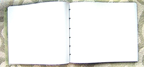 9.5'' x 12'' Large Refillable Leather Sketchbook, Natural Edge, Distressed Leather sketchbook, Refillable Journal, Large leather journal, Refillable sketchbook cover, guest book, photo album by ZenfishLeather (Image #3)