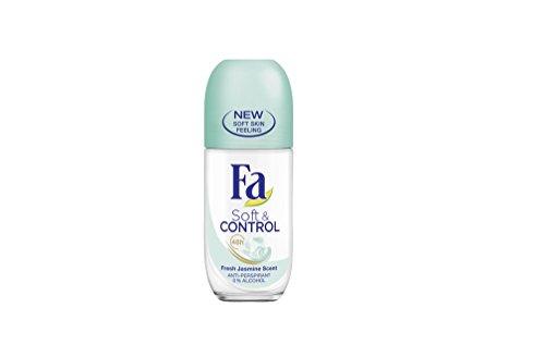 Deodorant Jasmine Scent (Fa Soft & Control Fresh Jasmine Scent Anti-Perspirant Deodorant Roll-On for Women 50 ml / 1.7 fl oz)