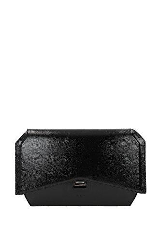 Pochette Givenchy Donna Vernice Nero e Argento BB05569480001 Nero 4x18x30 cm