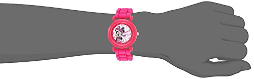 DISNEY Girl's 'Minnie Mouse' Quartz Plastic and Silicone Casual Watch, Color:Pink (Model: WDS000007) by Disney (Image #1)
