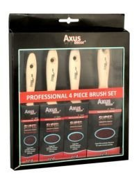 Axus D?cor Super Smooth Brush Set - Red (4 Pieces) [DIY & Tools]