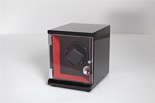 LQUIDE Watch Winder,Gran Ventanilla Transparente,4 Tipos De Modos De Funcionamiento,Estuche De Madera,Acabado Piano,Motor Silencioso Cajas Giratorias Para ...