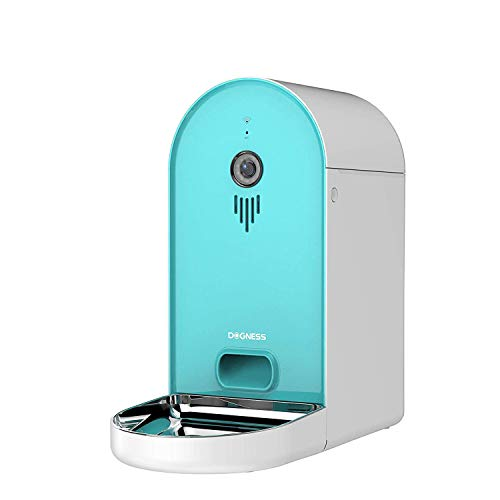 - DOGNESS Automatic WiFi Dog/Cat Smart Camera Feeder - 6.5lbs Large Capacity App Control Food Dispenser with WiFi, Portion Control, Voice Recording,Timer Programmable - Tiffany Blue