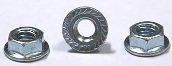 7/8-9 Hex Flange Nuts / Serrated / Steel / Zinc / 100 Pc. Carton