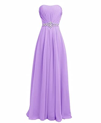 FAIRY COUPLE Women Strapless Bridesmaid Evening Dresses