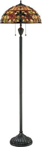 "Quoizel TF878F 2-Light Kami Floor Lamp, 18"" x 18"" x 62"", Vin"
