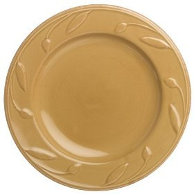 Signature Housewares Sorrento Collection 8-Inch Round Salad Plate, Gold Antiqued Finish