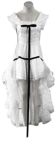 YuanCos Chobits Chii White Lolita Girls Party Dress Halloween Cosplay Costume