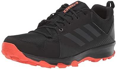 adidas Outdoor Men's Terrex Tracerocker Trail Running Shoe, Black/Carbon/Active Orange, 8 D US