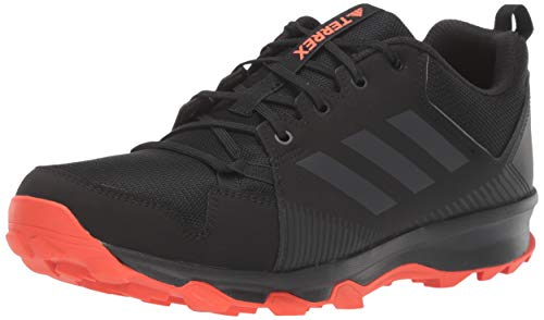 adidas outdoor Men's Terrex Tracerocker Trail Running Shoe, Black/Carbon/Active Orange, 10 D US
