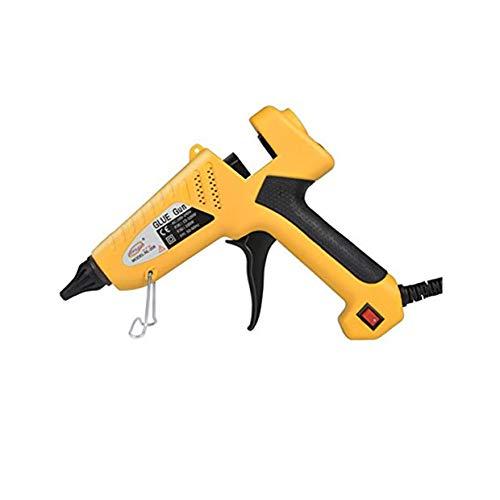GLOGLOW 100-Watt Industrial Glue Gun High Temperature Hot Melt Glue Gun Flexible Trigger with 10pcs Glue Sticks for DIY Small Craft Projects Sealing & Quick Repairs Yellow by GLOGLOW