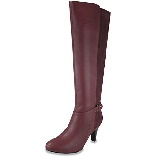 London Fog Damen Event Heel Dress Boot Wein