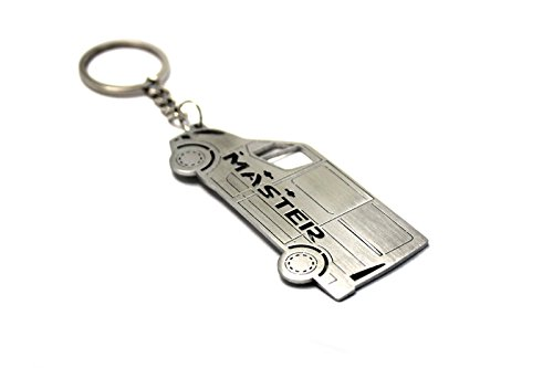 Renault Master Cars - Keychain With Ring For Renault Master III Steel Key Pendant Chain Automobile Gift Car Design Accessories Laser Cut Home Key