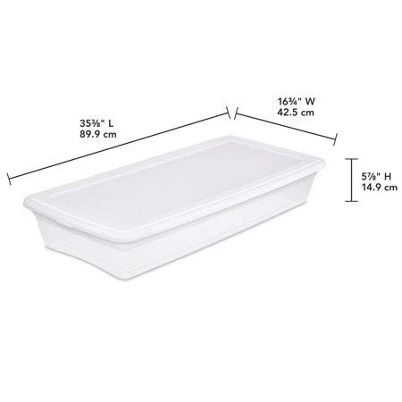 Sterilite 41 Qt Storage Box, White (Available in Case of 6 or Single Unit)