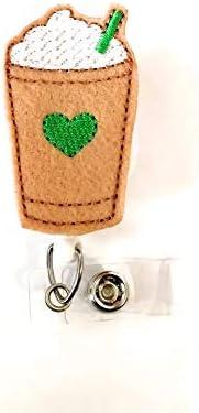 Badge Holder RN Badge Reel Nurse Badge Reel Badge Reel Interchangeable Badges ID Badge Reel Retractable Badge Coffee Badge Topper Set
