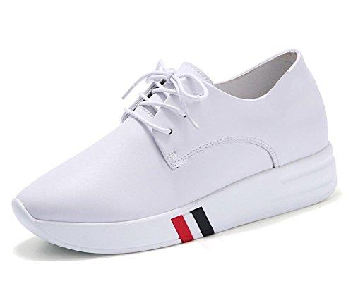 Mme chaussures d'ascenseur printemps épais muffins croûte chaussures occasionnels femmes célibataires chaussures de sport chaussures en dentelle , US6.5-7 / EU37 / UK4.5-5 / CN37