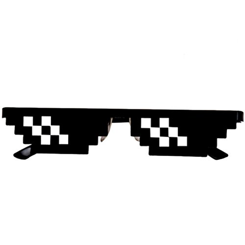EKIMI Fashion Joke Thug Life Glasses 8 Bit Pixel Deal With IT Sunglasses Unisex Sunglasses Toy (2 - Thousand Oaks Eyeglasses