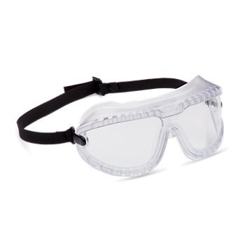 Clear Lens Color 5 Pairs Splash GoggleGear Goggles /& Faceshields Medium Clear Frame Color