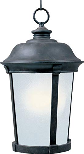 Maxim 85099FSBZ Dover EE 1-Light Outdoor Hanging Lantern, Bronze Finish, Frosted Seedy Glass, GU24 Fluorescent Fluorescent Bulb , 60W Max., Wet Safety Rating, Standard Dimmable, Glass Shade Material, 1344 Rated Lumens