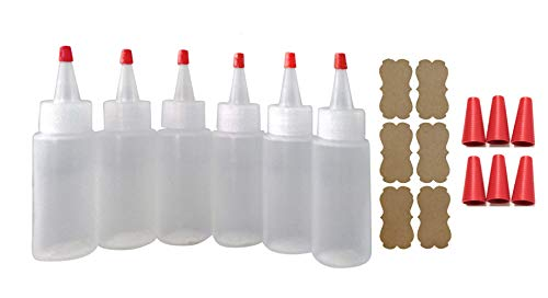 (SanDaveVA Brand 6 Plastic Squeeze Bottles Cake Decorating Paint Crafts Condiments 60ml)