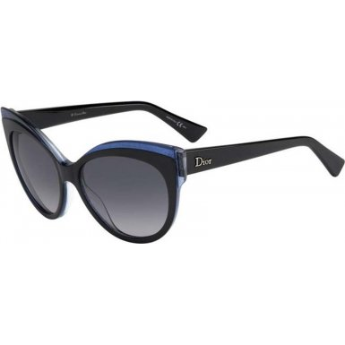 Dior Glisten1 E1X Black and Blue Glisten 1 Cats Eyes Sunglasses Lens Category - Eyes Dior 1 Sunglasses