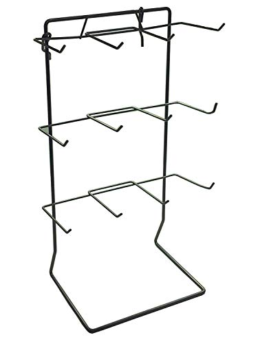 One 12 Single Peg Hook Counter Top Display Rack (Holds 3