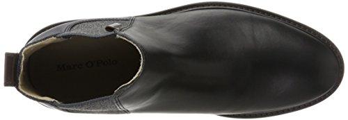 Black Herren 70824105001108 Heel O'Polo Chelsea Flat Schwarz Boots Marc Zqf8xpT